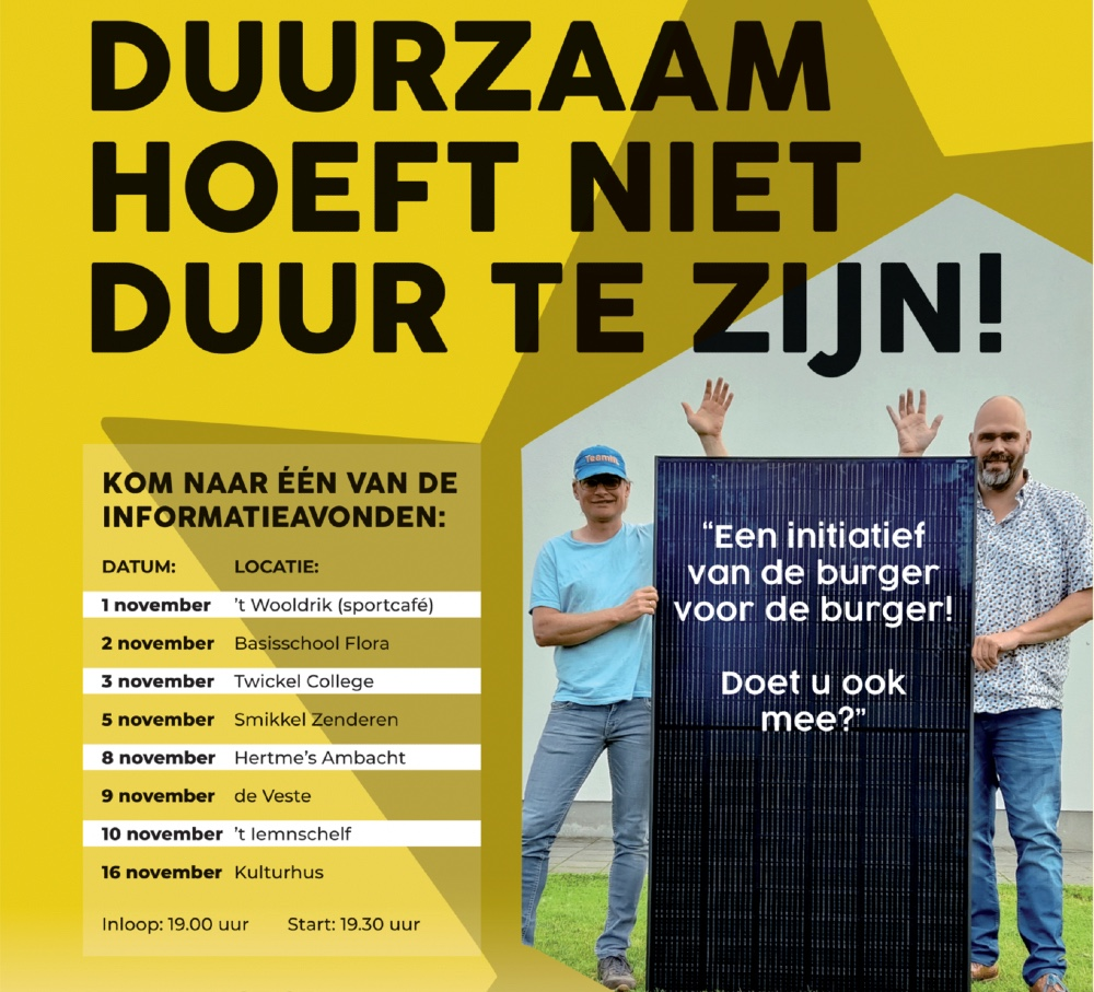 Informatieavond zonnepanelen 't Wooldrik